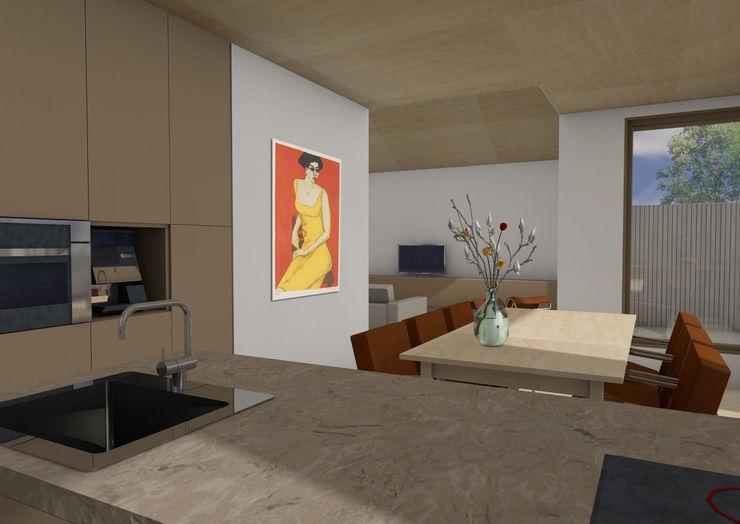 Dick van Aken Architectuur Modern dining room Wood Wood effect