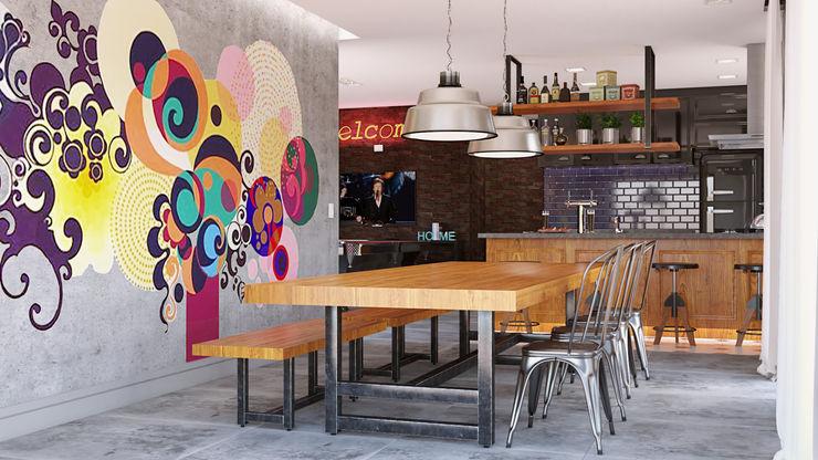 Área Gourmet MS One Arquitetura & Design de Interiores Salas multimídia ecléticas