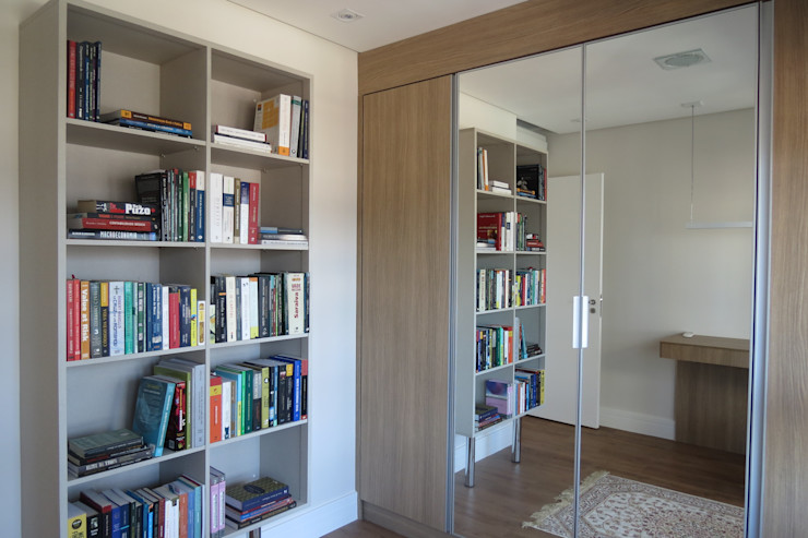 Home Office/ Closet In.home Escritórios modernos MDF Castanho