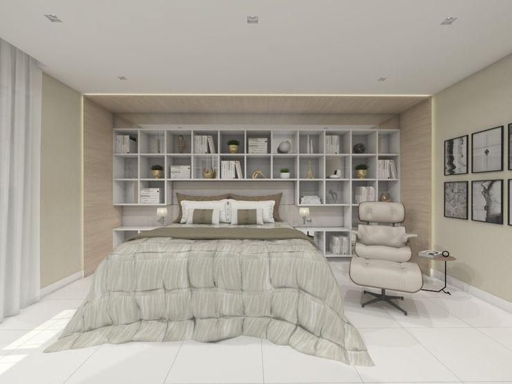 Larissa Vinagre Arquitetos Moderne Schlafzimmer