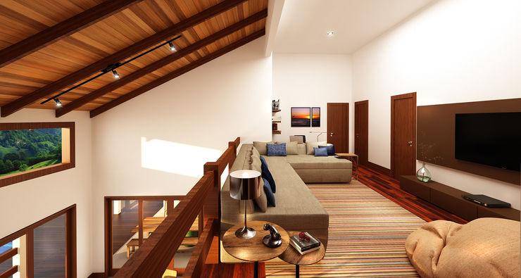 Ana Carolina Cardoso Arquitetura e Design Nowoczesne okna i drzwi Drewno