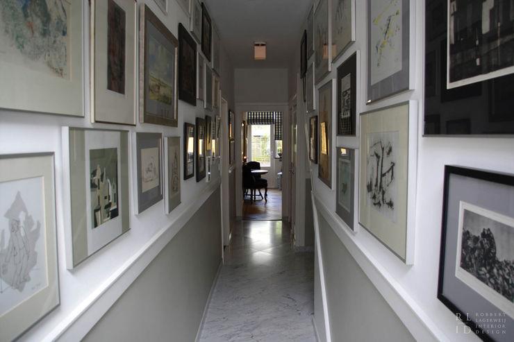 Hal Herenhuis Statenkwartier Den Haag Robbert Lagerweij Interior Design Klassieke gangen, hallen & trappenhuizen Marmer Grijs
