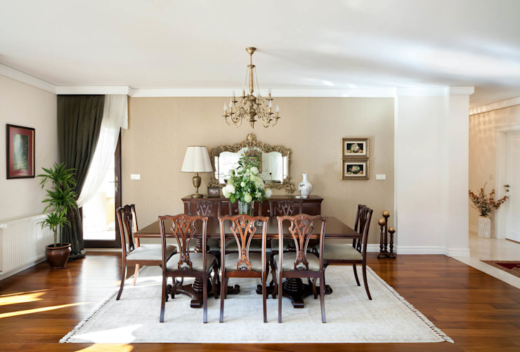Bursa Misspark Villa Öykü İç Mimarlık Klasik Yemek Odası