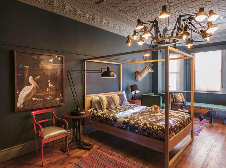 The Black House Etienne Hanekom Interiors Eclectic style bedroom Black