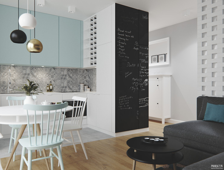 PRØJEKTYW   Architektura Wnętrz & Design Scandinavian style dining room