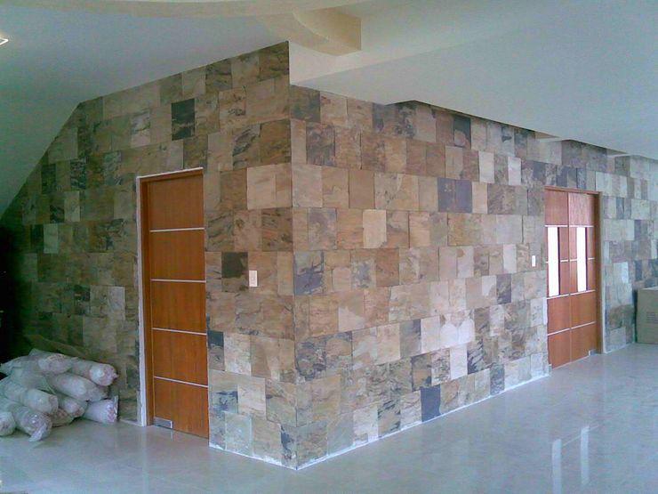 CASA F8 SG Huerta Arquitecto Cancun Pasillos, vestíbulos y escaleras de estilo ecléctico Pizarra Blanco