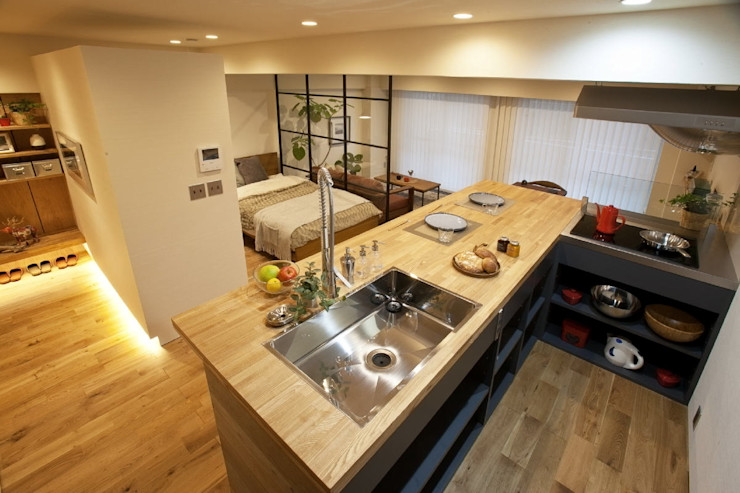 nano Architects Cozinhas ecléticas Madeira Efeito de madeira