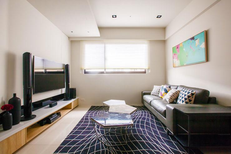 双設計建築室內總研所 Scandinavian style living room