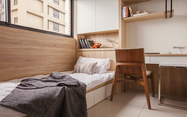 双設計建築室內總研所 Dormitorios de estilo escandinavo