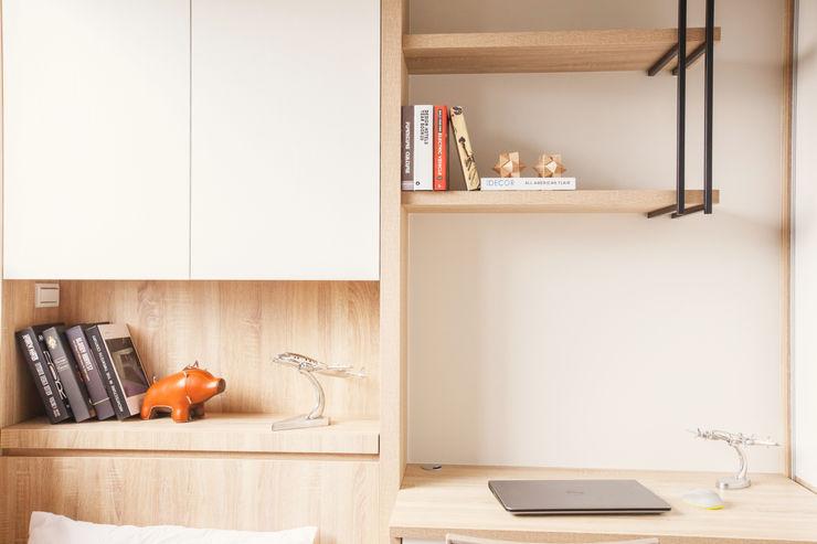 双設計建築室內總研所 Scandinavian style bedroom