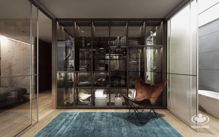 Komandor - Wnętrza z charakterem Moderne kleedkamers Spaanplaat Hout