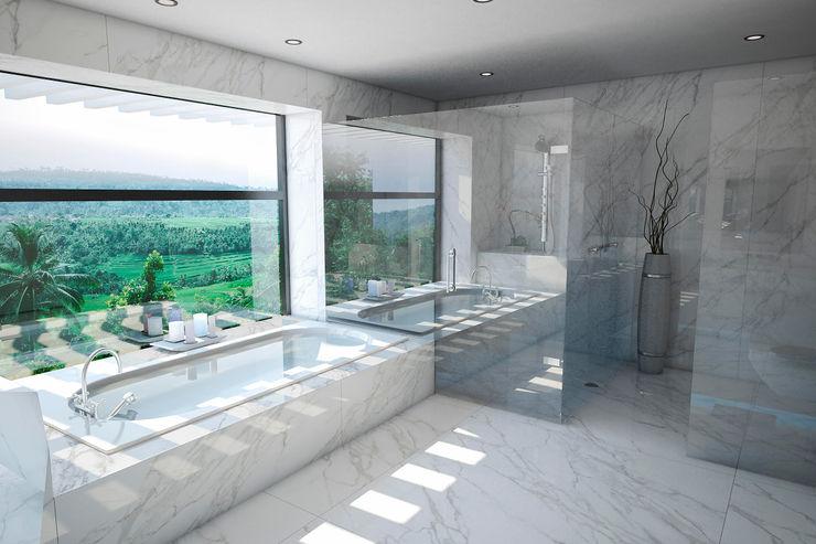 Baño Vivian Dembo Arquitectura Baños de estilo moderno Mármol Blanco