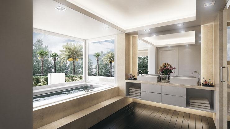 DIKA estudio Minimalist style bathrooms