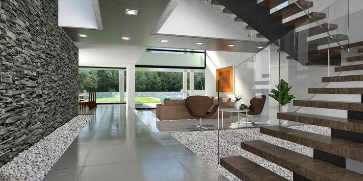Vivian Dembo Arquitectura Modern Living Room Concrete