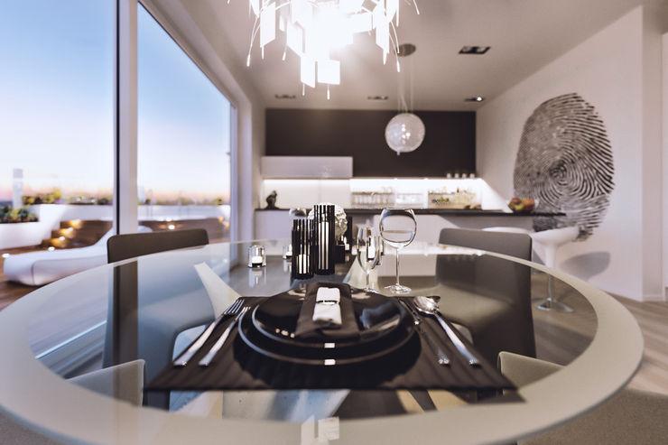 Un attico in stile loft in Milano Annalisa Carli Cucina moderna Legno Bianco