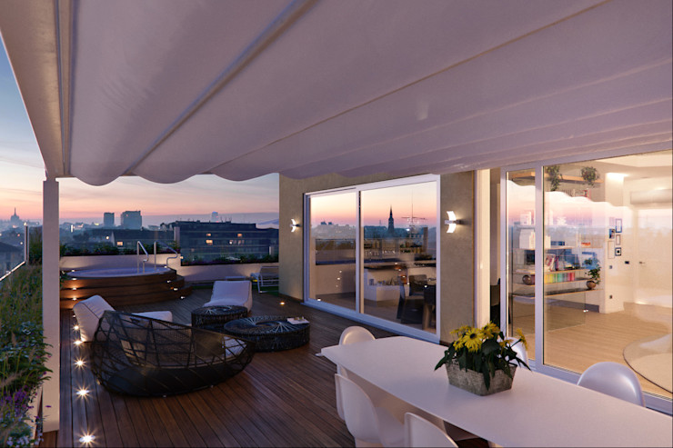 Annalisa Carli Modern Terrace Engineered Wood Multicolored