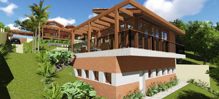 Projeto Arquitetura Residencial GV arquiteto bignotto Casas rústicas
