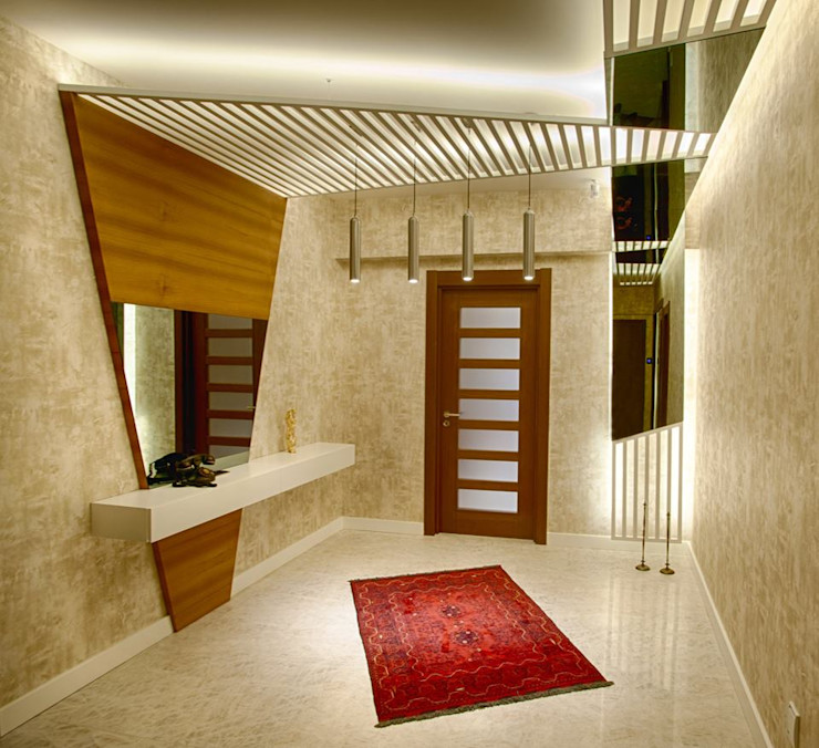 Ofis Mimarlık Modern Corridor, Hallway and Staircase