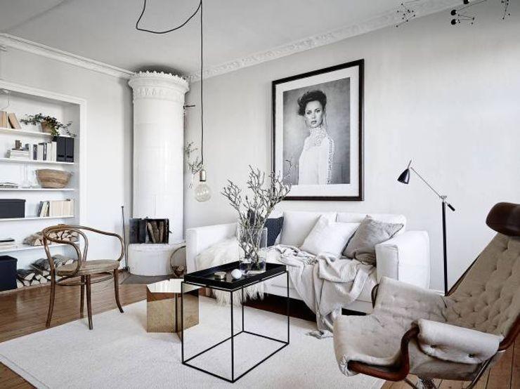 50 sfumature di bianco: Arredare total white Design for Love Soggiorno in stile scandinavo Bianco