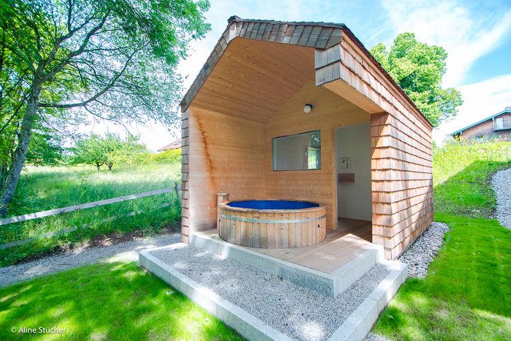 w. raum Architektur + Innenarchitektur Spas de estilo rural