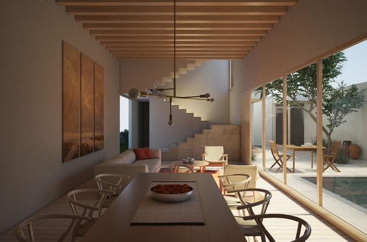 Sala Comedor homify Comedores modernos Madera Acabado en madera