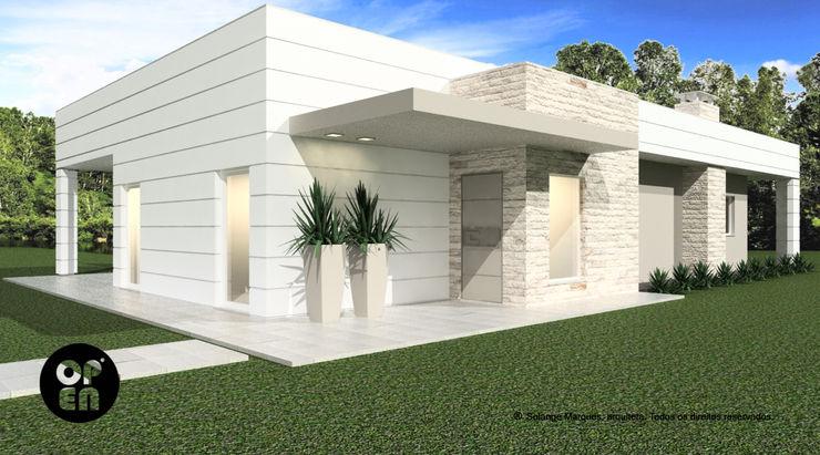 Casa de Campo (2016) - Construção LSF ATELIER OPEN ® - Arquitetura e Engenharia Casas modernas