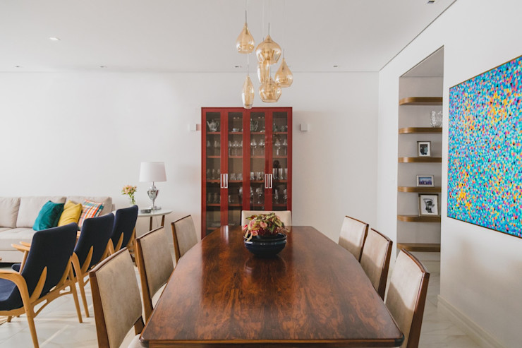 Projeto Araraquara Marina La-Gatta Design de Interiores Salas de jantar modernas