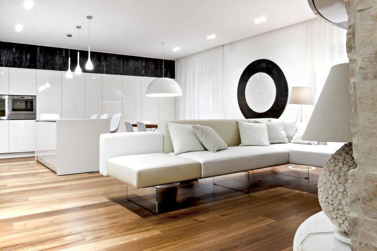 casa SG m12 architettura design Soggiorno moderno