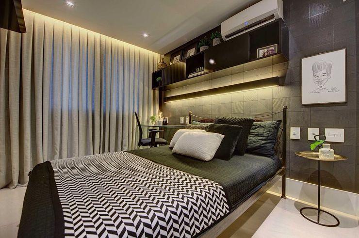Dome arquitetura Modern Bedroom Grey