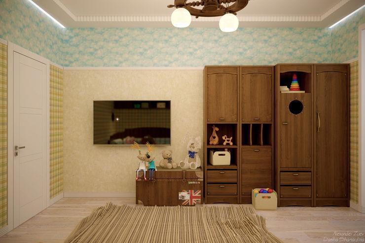 Студия интерьерного дизайна happy.design Kamar Bayi/Anak Gaya Mediteran