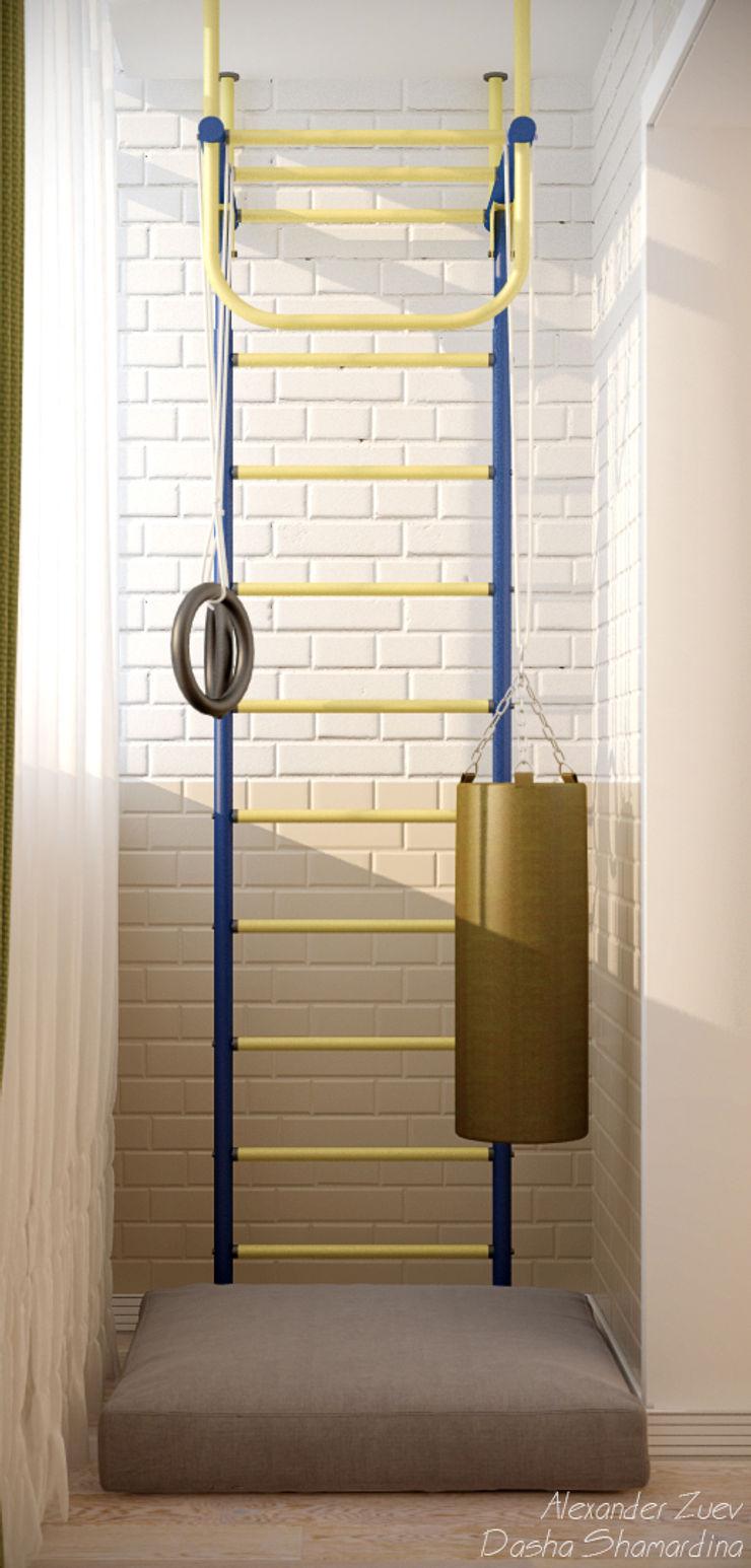 Студия интерьерного дизайна happy.design Balkon, Beranda & Teras Gaya Mediteran