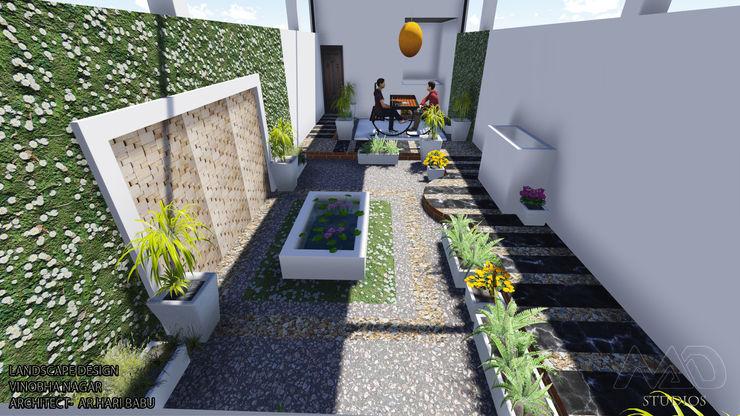Roof Top Landscape MAD Studios Minimalist balcony, veranda & terrace
