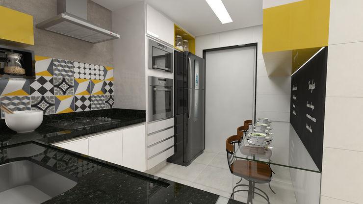 Cozinha Impelizieri Arquitetura Cozinhas modernas Amarelo