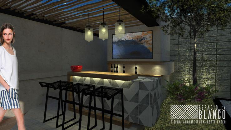 Espacio en Blanco Industrial style wine cellar