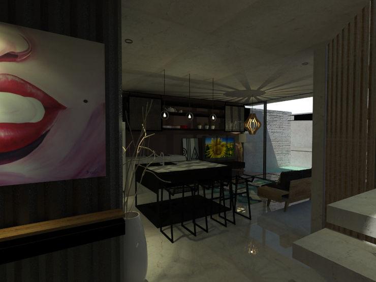 Espacio en Blanco Industrial style kitchen