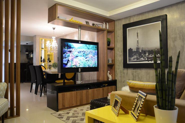 Área social Residência Danielle Barbosa DECOR|DESIGN Salas de estar modernas