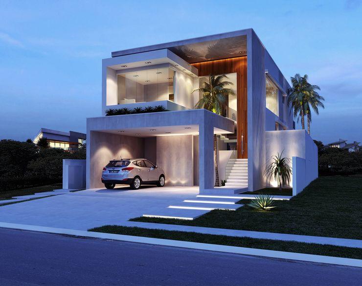 Sapucaias Home Alessandra Duque Arquitetura & Interiores Casas modernas