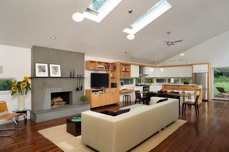 Whale Rock House Eisner Design Modern Living Room