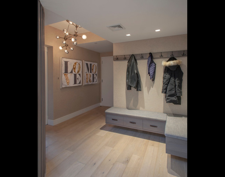 W 87th St Penthouse Eisner Design Modern Corridor, Hallway and Staircase