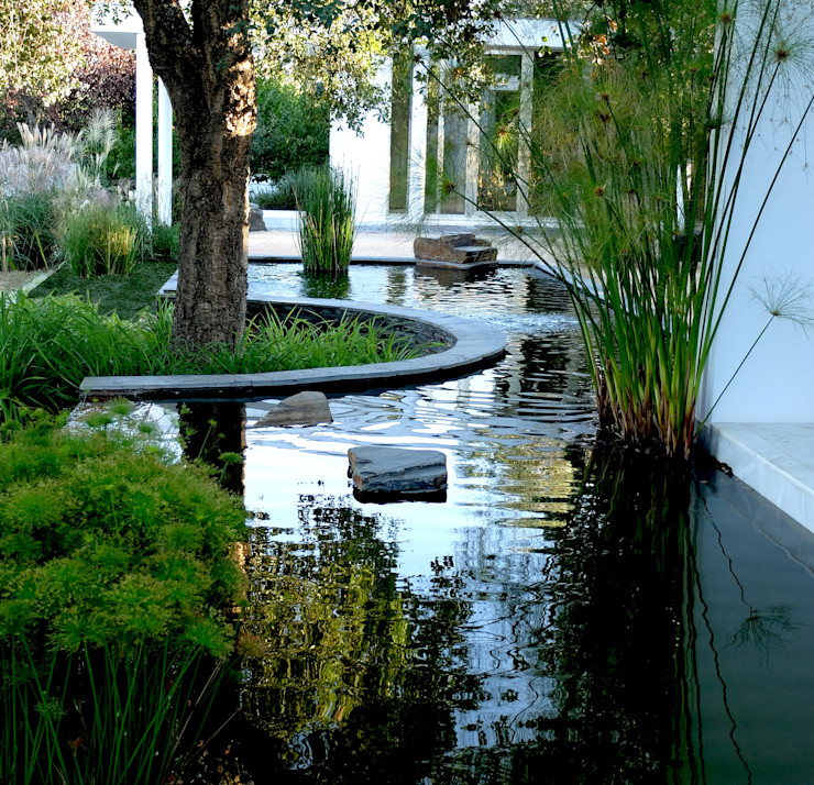 Water mirror Atelier Jardins do Sul Eclectic style garden