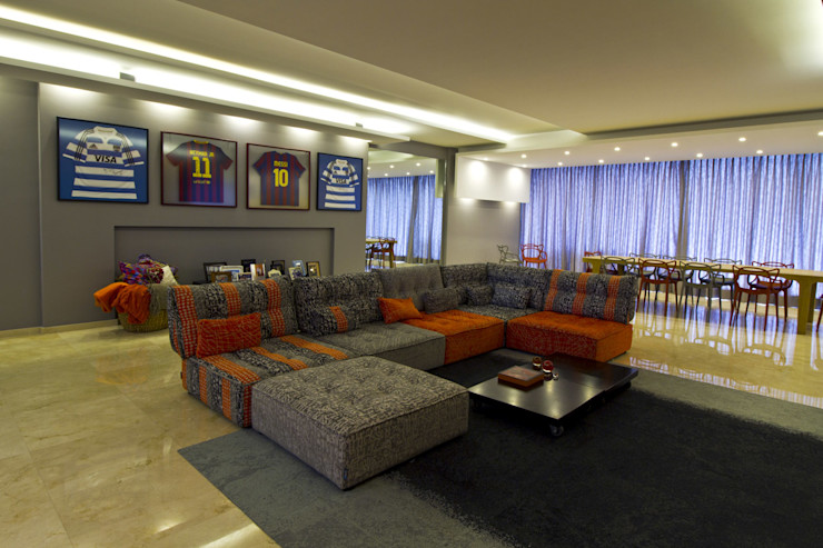 DIN Interiorismo 现代客厅設計點子、靈感 & 圖片