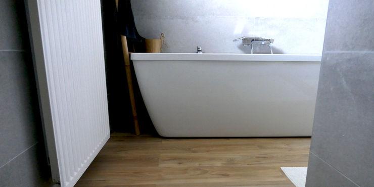 Maison M.F Ophélie Dohy architecte d'intérieur Salle de bain moderne Béton Blanc