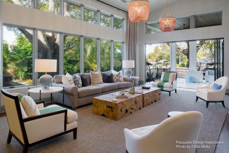 Chibi Moku Architectural Films Ruang Keluarga Modern Beton White