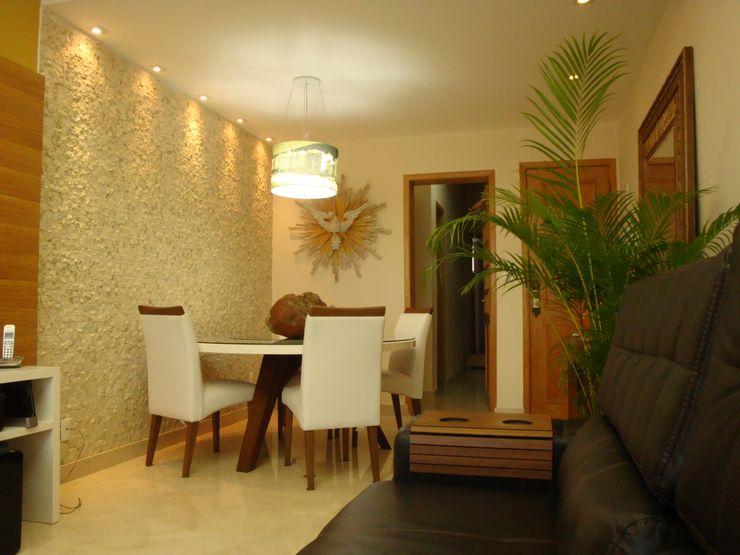Debiaze Arquitetura Modern dining room Marble Beige