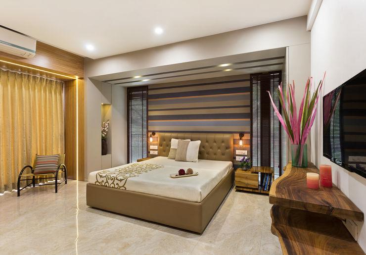 Master Bedroom The design house Modern style bedroom Wood Amber/Gold