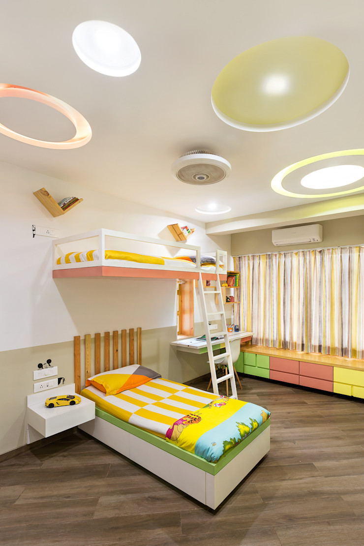 Kid's Room The design house Modern style bedroom Wood Yellow