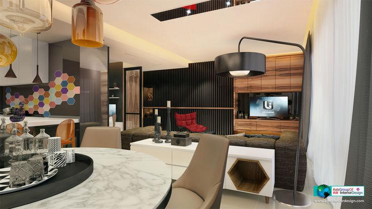 Axis Group Of Interior Design Moderne Wohnzimmer
