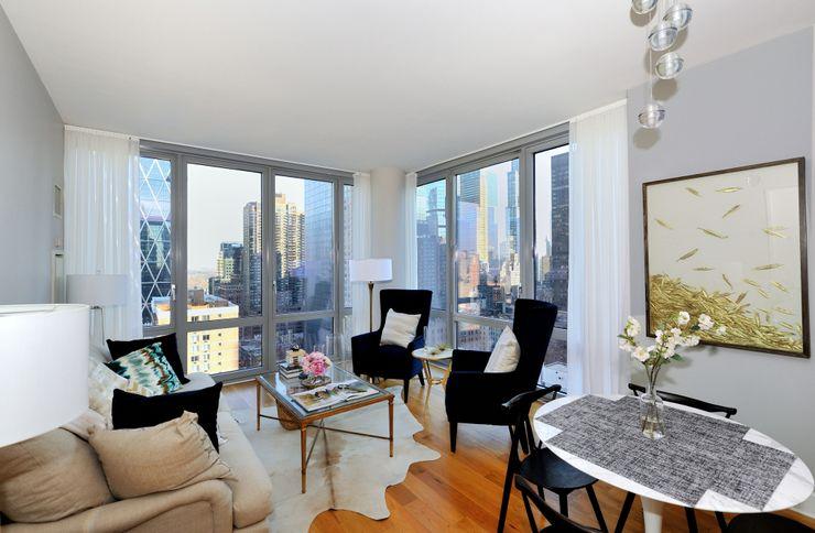 Apartment Remodel on West 52nd St. KBR Design and Build Living room