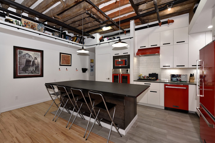 Renovation at 29 Tiffany KBR Design and Build Industrial style kitchen