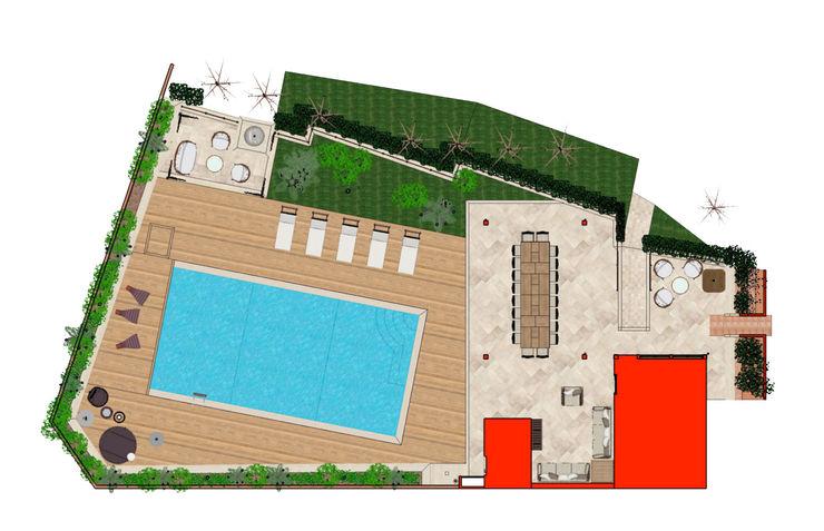 Flooring plan view Planet G Piscina in stile mediterraneo